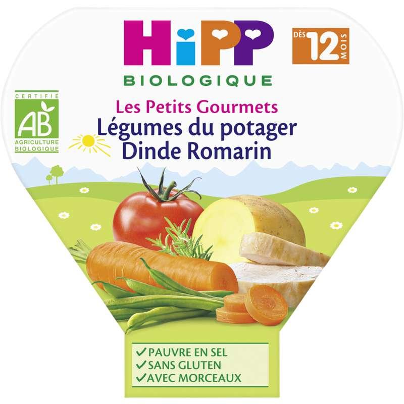 Les petits gourmets légumes du potager, dinde, romarin BIO - dès 12 mois, Hipp (230 g)