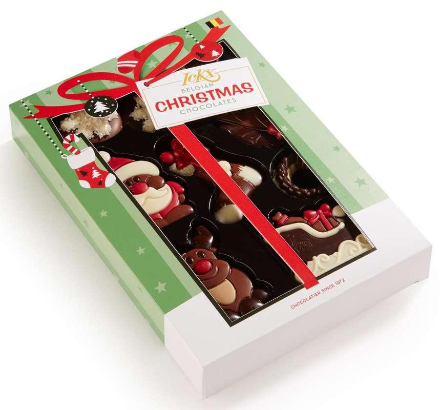 Assortiment de chocolats de Noël, Ickx (95 g)