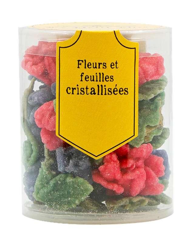 Assortiment de fleurs et feuilles cristallisées, Le Petit Duc (70 g)