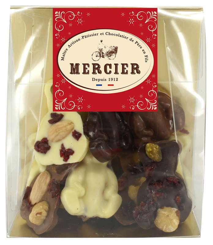 Assortiment de mendiants oursons, Chocolaterie Mercier (130 g)