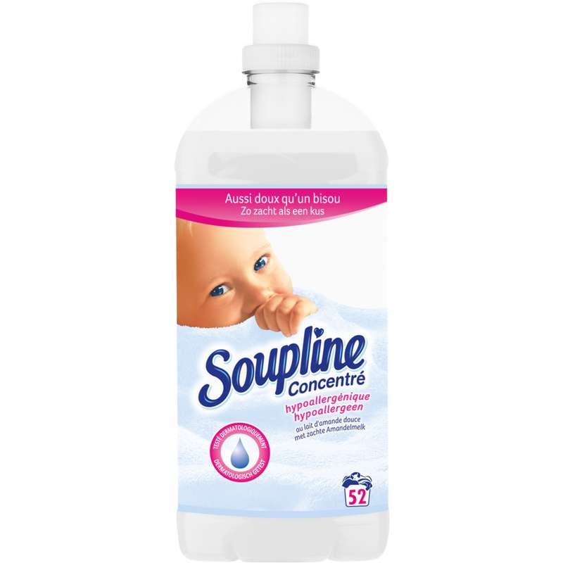 Assouplissant hypoallergénique, Soupline (1,3 L = 52 lavages)