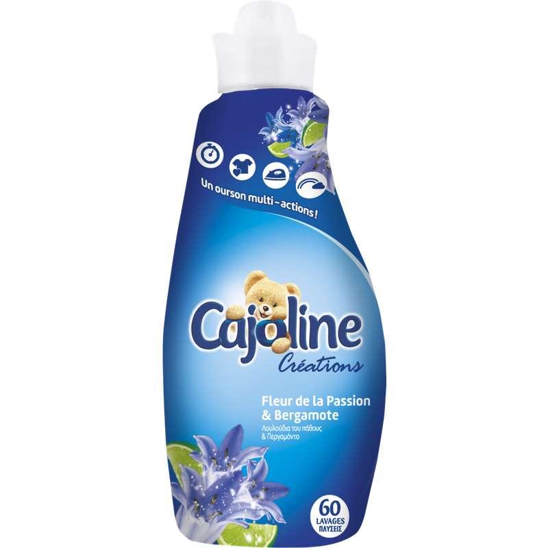 Assouplissant parfum passion et bergamote, Cajoline (1,5 L = 60 lavages)