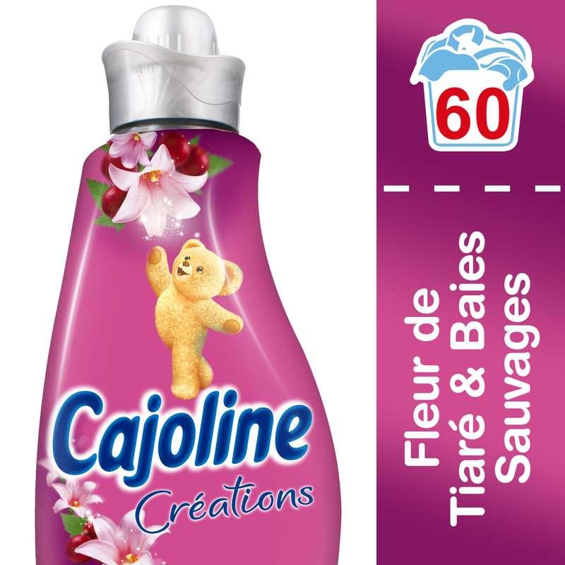 Assouplissant parfum tiaré et baies Brin de Folie, Cajoline (1.5 L = 60 lavages)