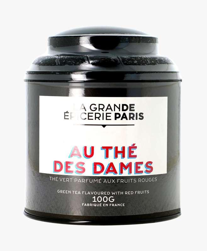 Thé vert Au Thé des Dames aromatisé aux fruits rouges, La Grande Epicerie de Paris (100 g)