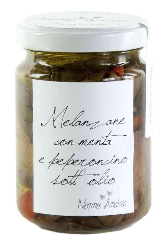 Aubergines au piment et à la menthe, Nonno Andrea (140 g)