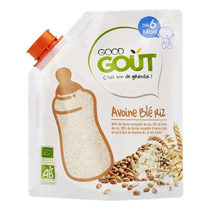 Avoine, blé et riz BIO - dès 6 mois, Good Goût (200 g)