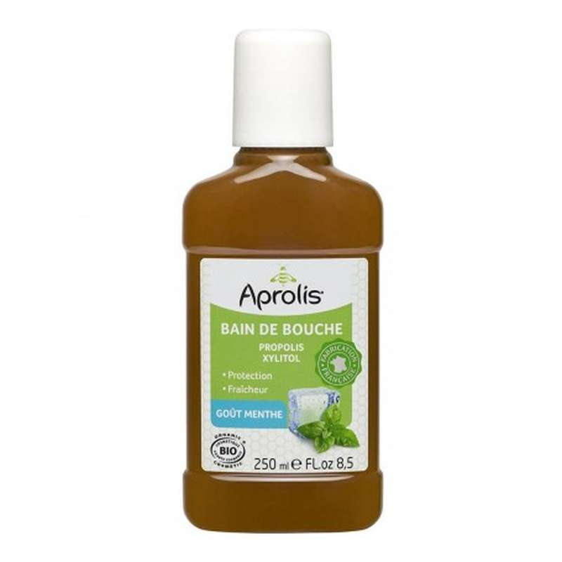 Bain de bouche BIO: propolis, xylitol, Aprolis (250 ml)