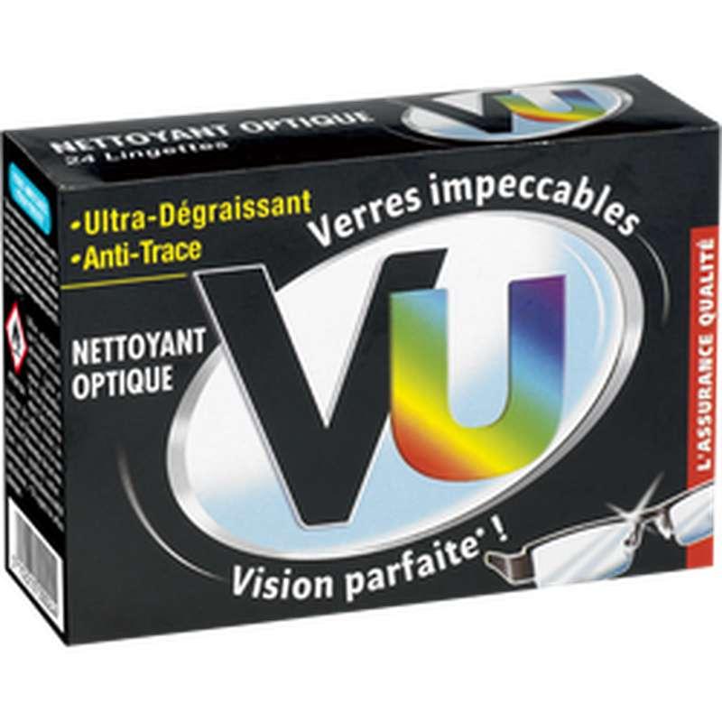 Lingettes nettoyantes pour lunettes, VU (x 24)