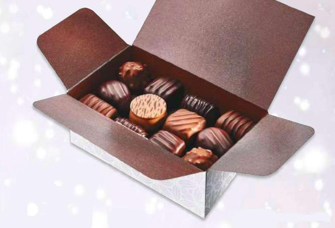 Ballotin de chocolats assortis, Schaal Chocolatier (250 g)