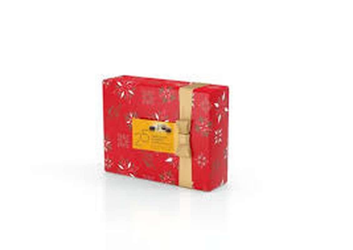 Ballotin Collection Noël de 25 chocolats assortis, Valrhona (230 g)