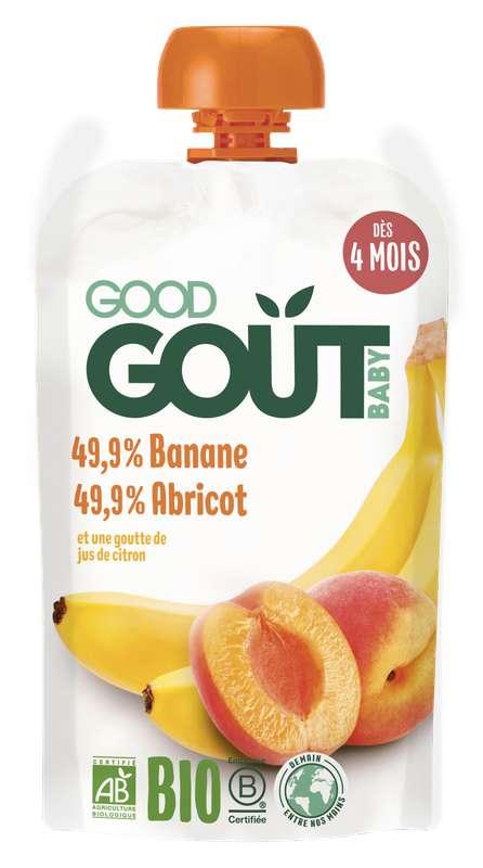 Banane, Abricot BIO - dès 4 mois, Good Goût (120 g)