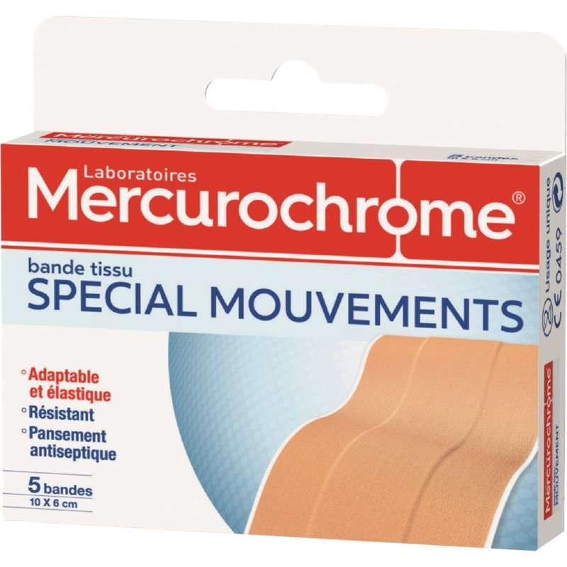 Bande à découper spécial mouvements, Mercurochrome (x 10 unités)