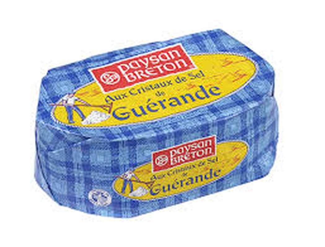 Beurre de baratte moulé au sel de Guérande, Paysans Breton (250 g)