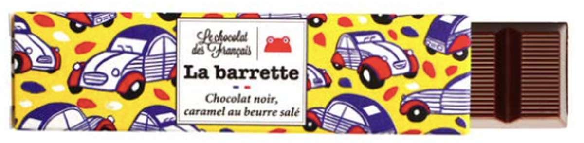 Barette 2CV Noir Caramel Salé, Le Chocolat des Français (40 g)