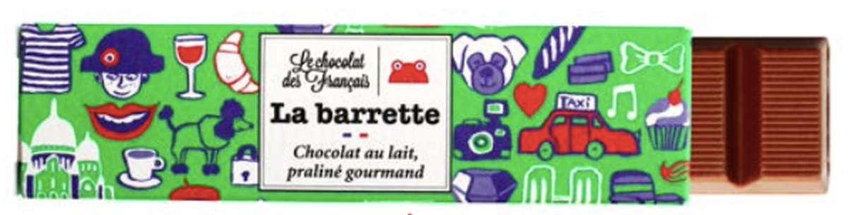 Barette Paris Lait Praliné Noisettes, Le Chocolat des Français (40 g)