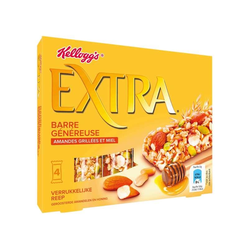 Barre Kellogg's Extra amandes grillées et miel (4 barres, 128 g)