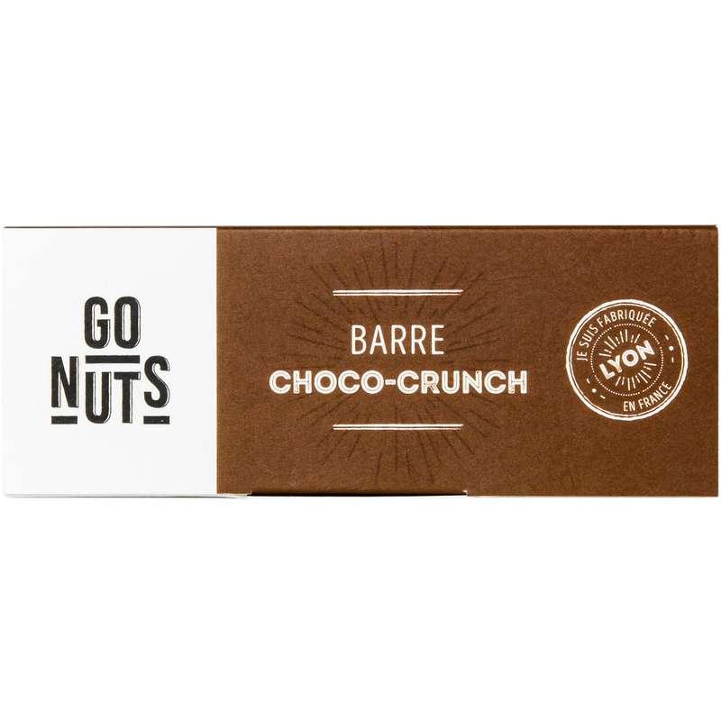 Barre Choco Crunch Sans Gluten et Vegan BIO, Go Nuts (45 g)