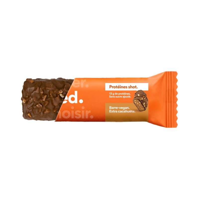 Barre de céréales Protéines Shot Extra Cacahuètes Vegan, Feed (55 g)