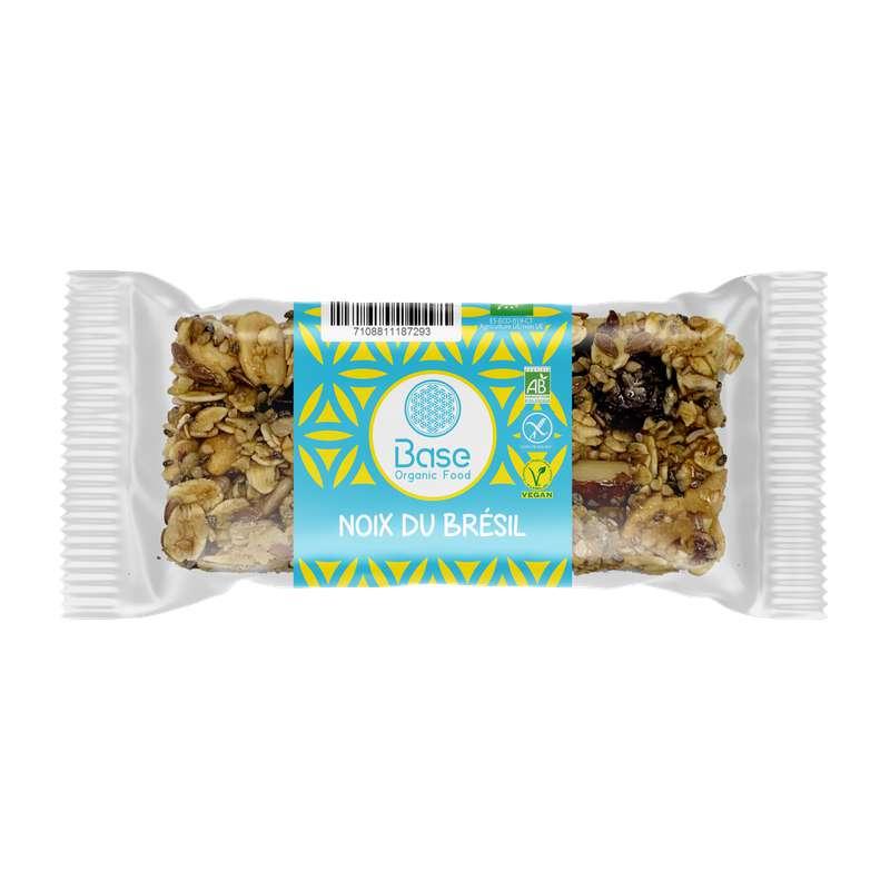 Barre de céréales sans gluten vegan noix du Brésil BIO, Base Organic Food (40 g)