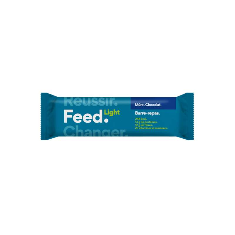 Barre Light Mûres Chocolat Vegan, Feed (90 g)