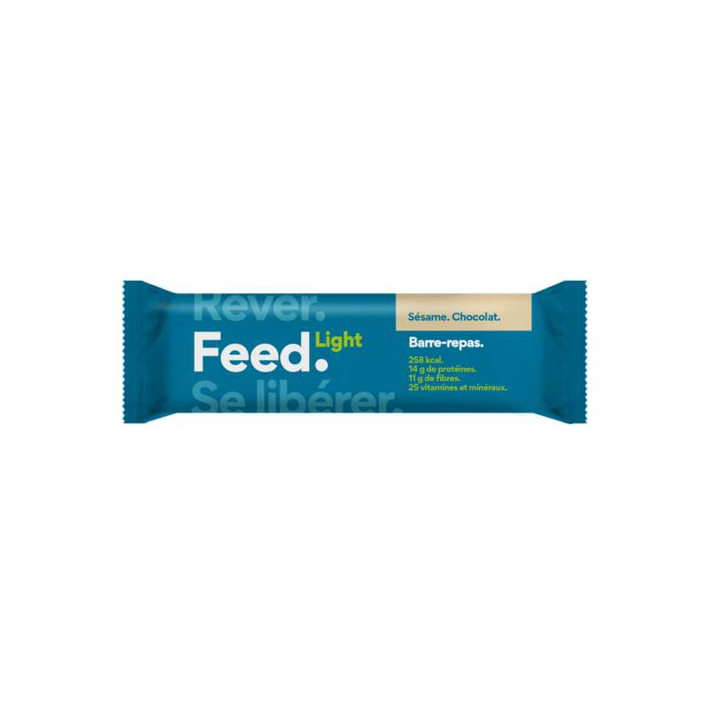 Barre Light Sésame Chocolat Vegan, Feed (90 g)