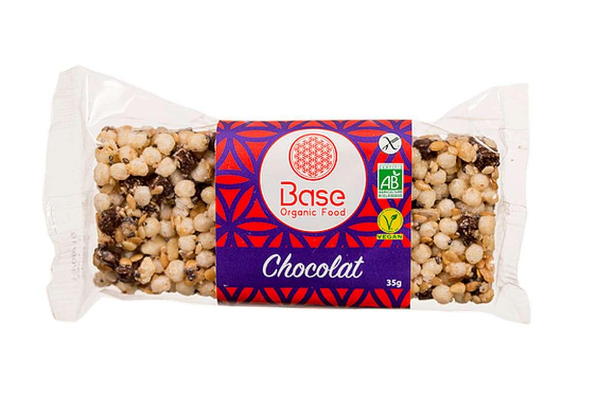 Barre sans gluten vegan au chocolat BIO, Base Organic Food (35 g)