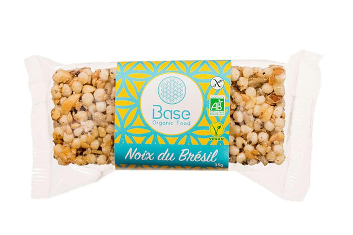 Barre sans gluten vegan noix du Brésil BIO, Base Organic Food (35 g)
