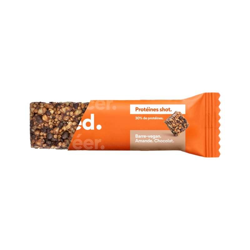 Barre de céréales Protéines Shot Chocolat Amande Vegan, Feed (40 g)