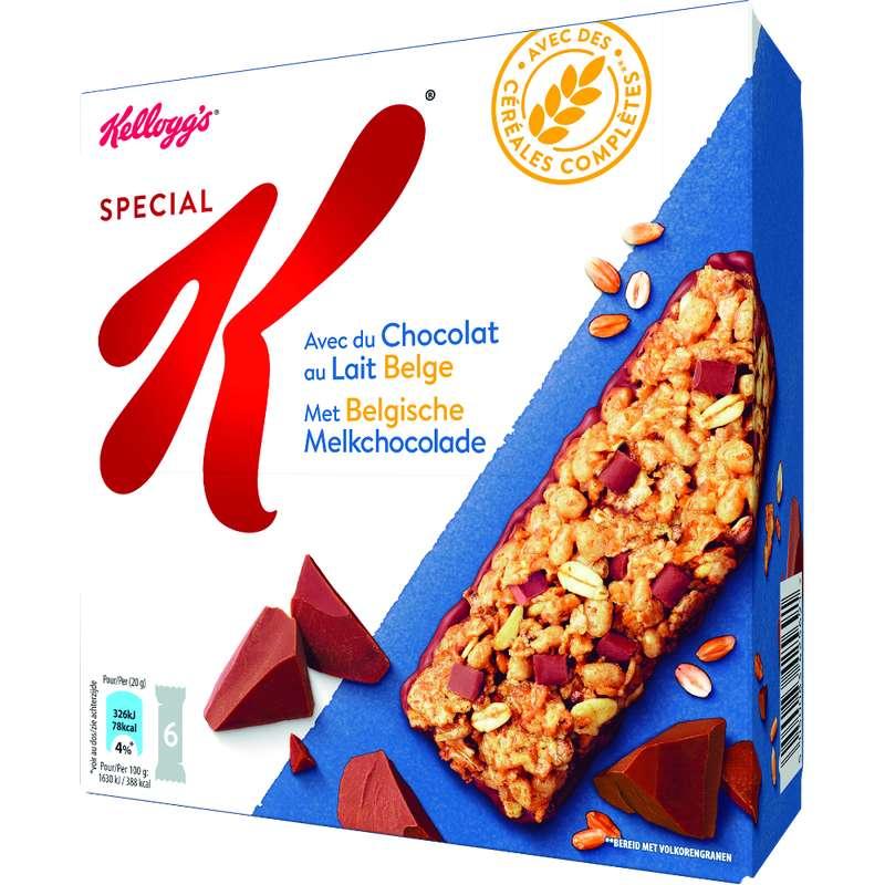 Barres Spécial K chocolat au lait, Kellogg's (6 barres, 120 g)