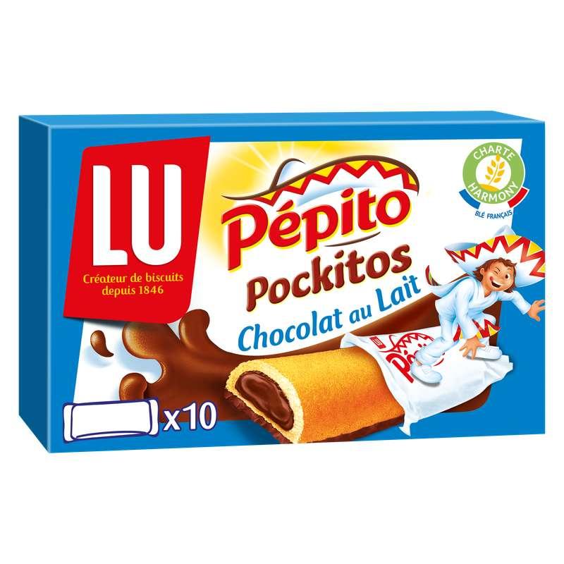 Barres chocolat au lait Pépito Pockitos, Lu (x 10, 295 g)