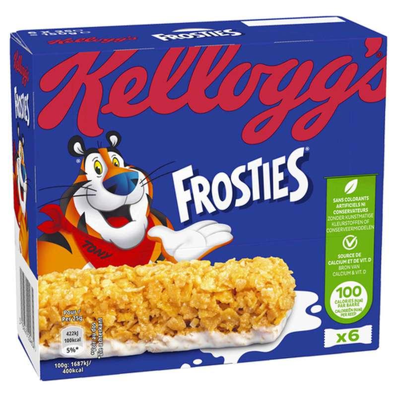 Barres de céréales Frosties, Kellogg's (6 x 25 g)
