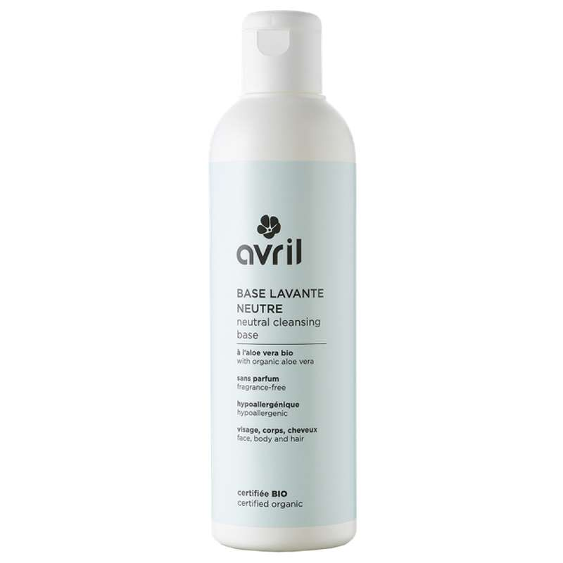 Base lavante neutre certifiée BIO, Avril (240 ml)