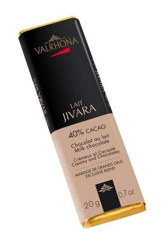Bâton chocolat au lait Jivara 40%, Valrhona (20 g)