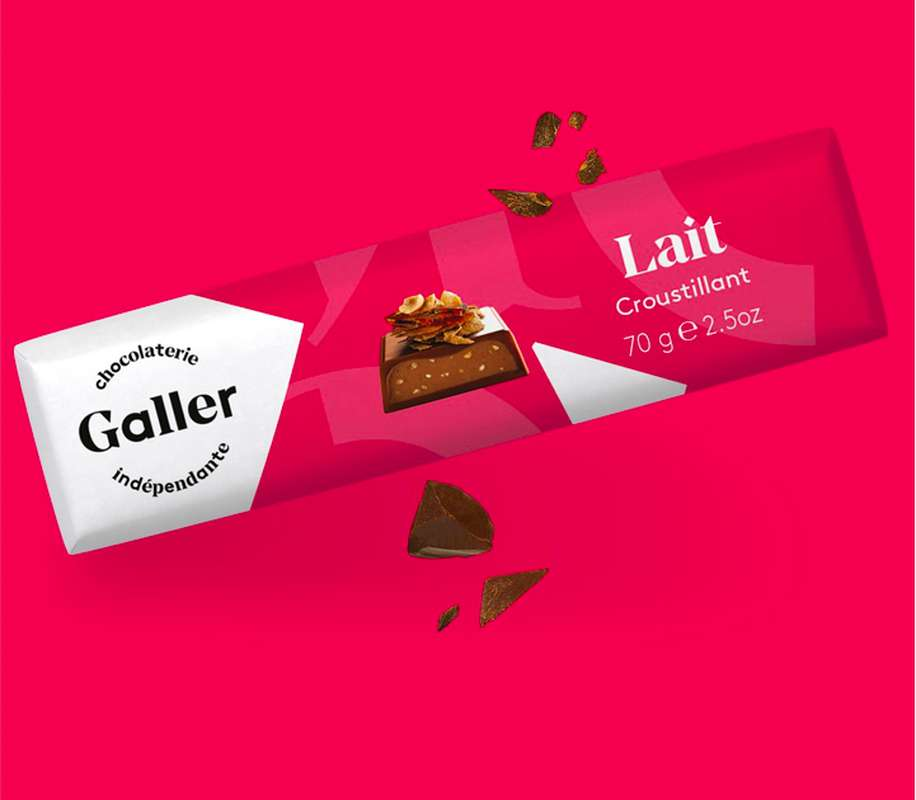 Bâton lait croustillant, Chocolat Galler (70 g)
