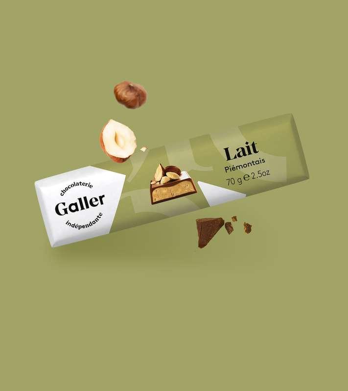 Bâton lait piémontais, Chocolat Galler (70 g)