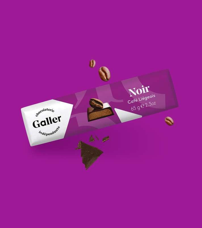 Bâton noir café liégeois, Chocolat Galler (65 g)