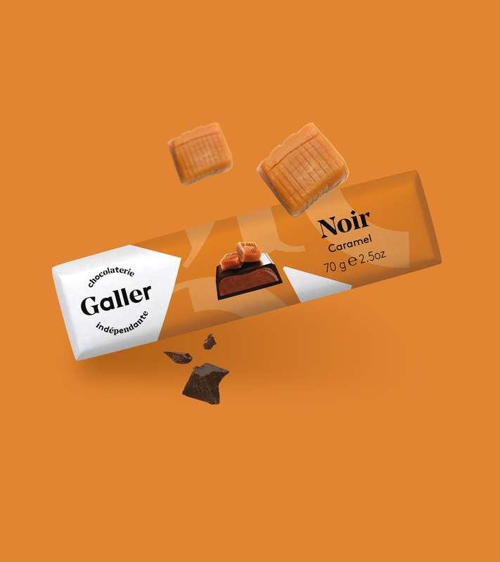 Bâton noir caramel, Chocolat Galler (70 g)