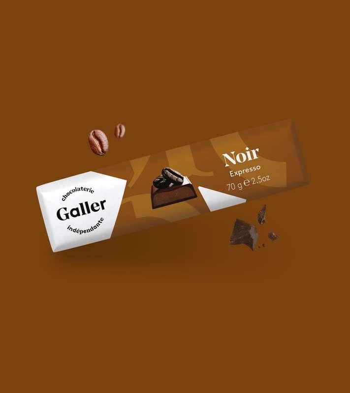 Bâton noir expresso, Chocolat Galler (70 g)