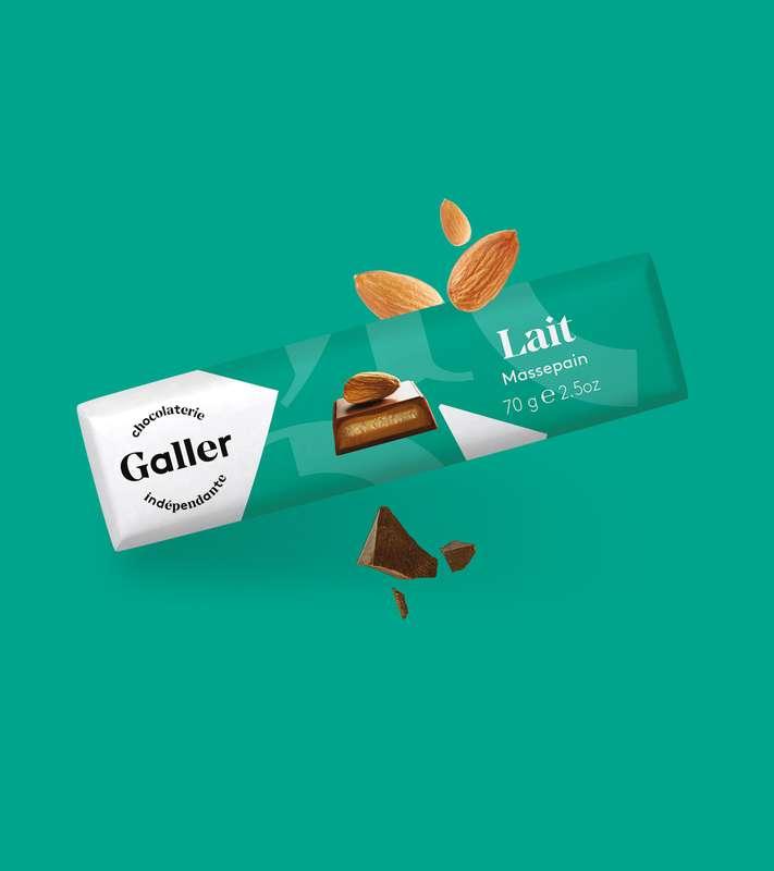 Bâton lait massepain, Chocolat Galler (70 g)