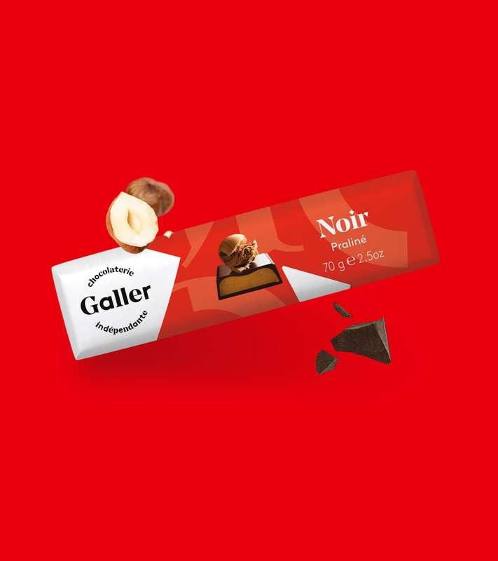 Bâton noir praliné, Chocolat Galler (70 g)