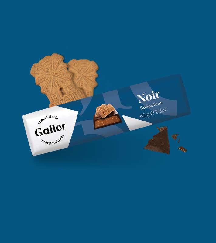 Bâton noir spéculos, Chocolat Galler (65 g)