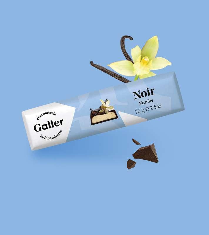 Bâton noir vanille, Chocolat Galler (70 g)