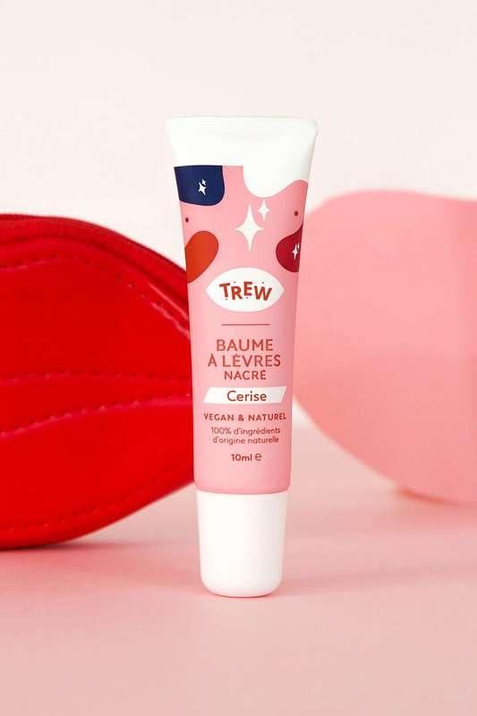 Baume à lèvres Nacré arôme Cerise Vegan, Trew (10 ml)