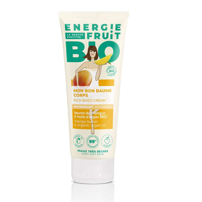 Baume corps hydratant BIO Mangue, Energie Fruit (200 ml)