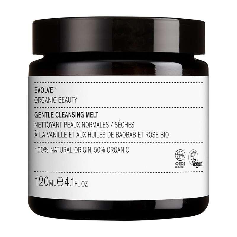 Baume fondant nettoyant doux pour le visage BIO, Evolve (120 ml)
