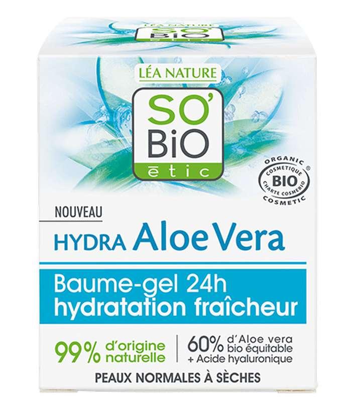 Baume gel 24h hydratation fraîcheur - Hydra Aloe Vera BIO, So'Bio Etic (50 ml)