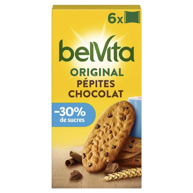 Belvita Petit Déjeuner céréales et pépites de chocolat allégé en sucre, Lu (300 g)