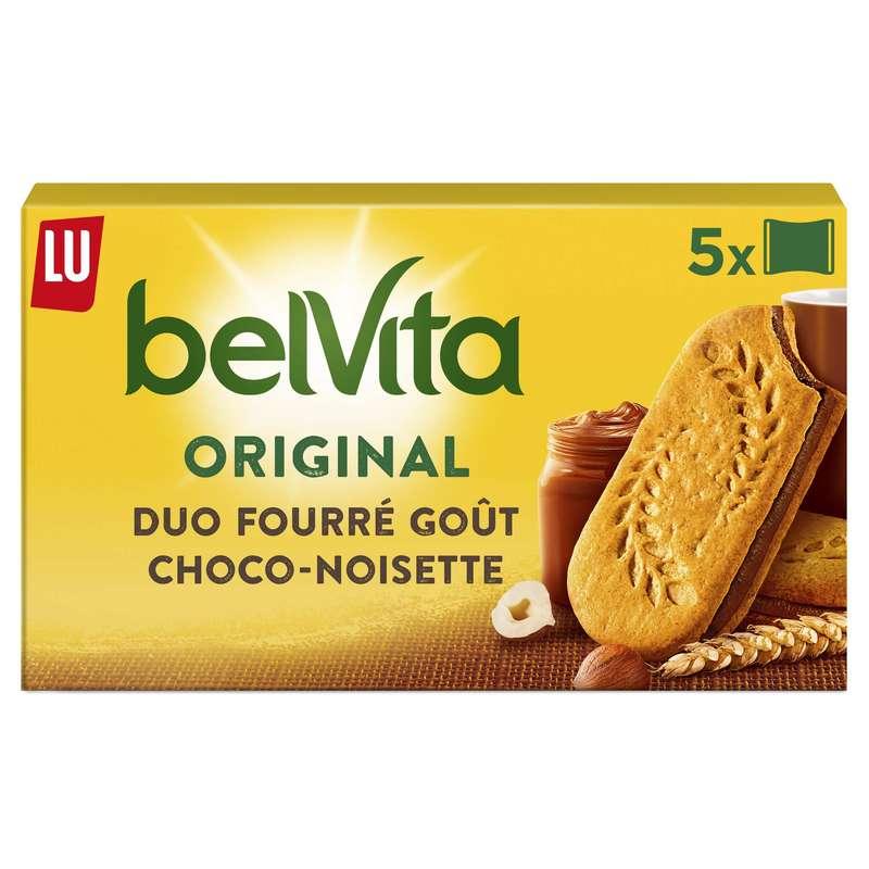 Belvita Petit Déjeuner Duo Fourré choc noisette, Lu (253 g)