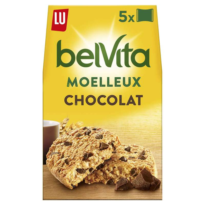 Belvita Petit déjeuner Le Moelleux chocolat, Lu (250 g)