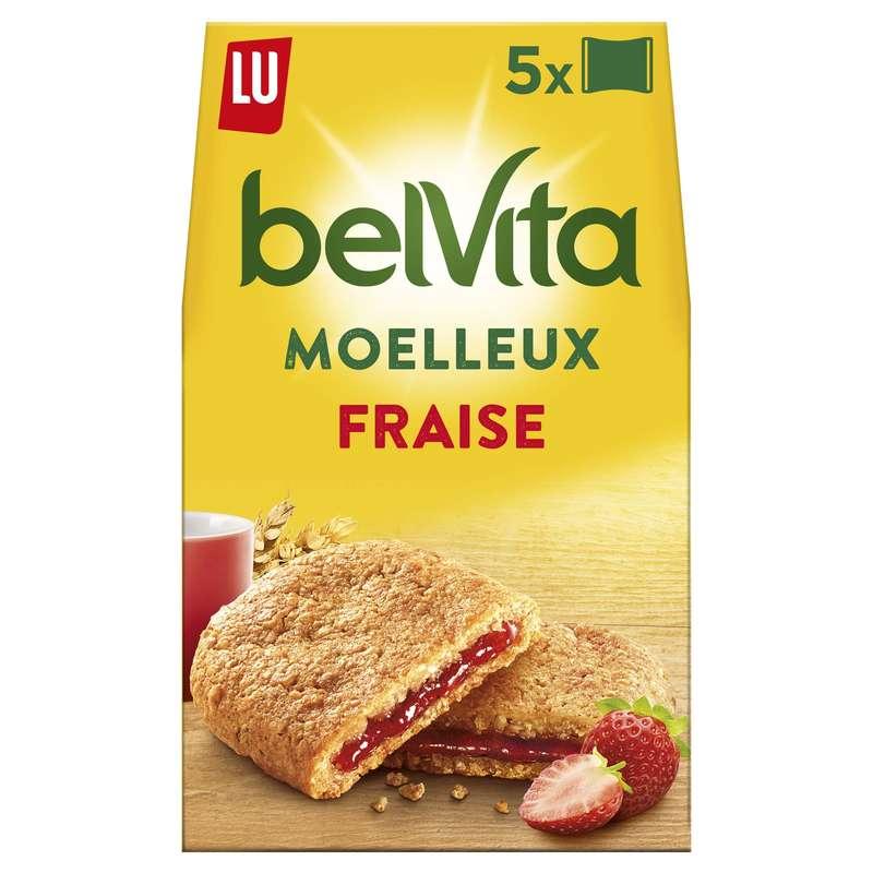 Belvita Petit déjeuner Le Moelleux fraise, Lu (250 g)
